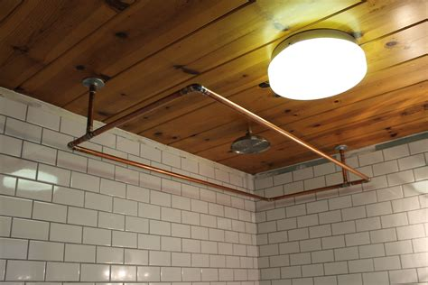 diy copper shower curtain rod ridgeside