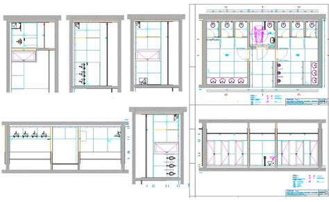 public bathroom plan public toilet plan dwg file