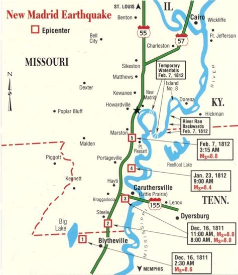 Maps of the New Madrid Fault Line USA   Learning
