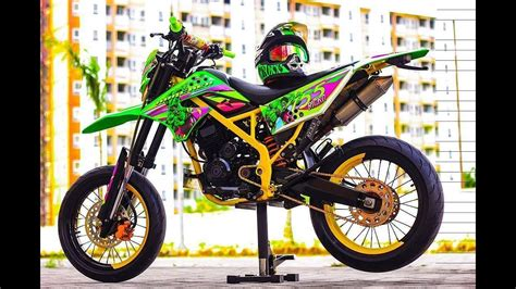 Klx Supermoto by Modifikasi Kawasaki Klx Dengan Tema Supermoto