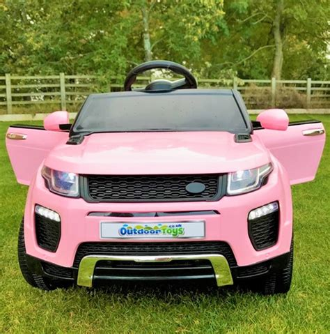 pink range rover range rover evoque style 12v child s ride on car pink
