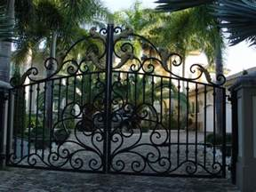 Decorative Iron Gates by Automatic Driveway Gates Slide And Swing Gate Openers