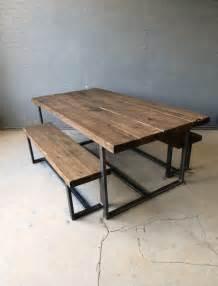 Industrial Kitchen Table Furniture Houten Bank Eettafel I My Interior