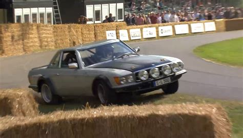 mercedes rally stillborn mercedes benz 500 sl rally car crashes at