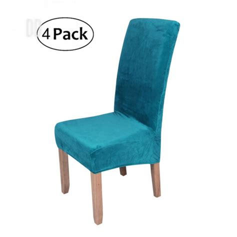 stretch chair covers  dining room peacock blue set
