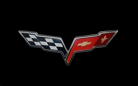 vintage corvette logo 2005 chevrolet corvette crossed flags logo photo 3