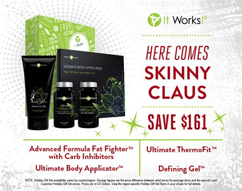 Detox Package Holidays by It Works Gift Set Claus Alyssaperry