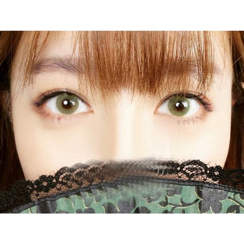 polar lights yellow green contacts pplens cosmetic colored prescription contact lens w power