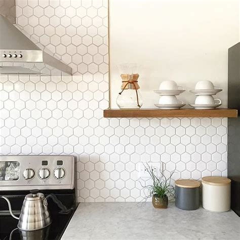 white hex backsplash by smith of annabode co