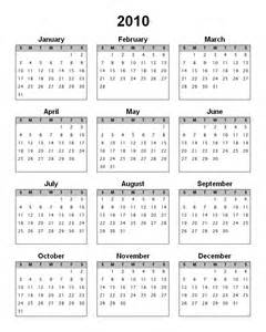 blank calendar template 2010
