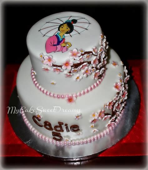 Birthday Cake by My Cake Sweet Dreams Mulan Birthday Cake