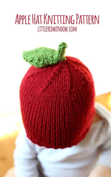 knitted apple pattern apple hat knitting pattern window