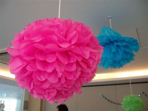 cara membuat bunga dari kertas ulang tahun jual pom pom bola dekorasi bola bunga kertas krep in s