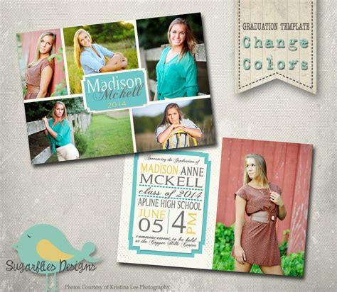 photoshop template graduation announcement graduation announcement photoshop template senior