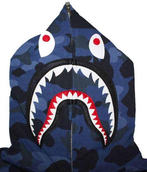 Bape Shark Fullzip Hoodie blue camo zip bape shark hoodie dopestudent