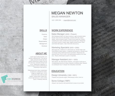 clean resume template word plain and simple a basic resume template giveaway