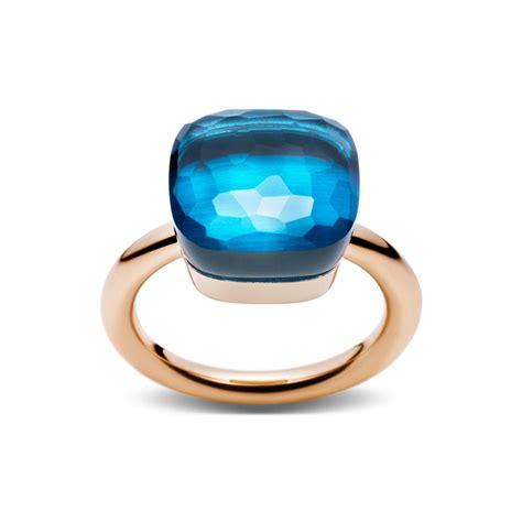 anello nudo di pomellato pomellato nudo in and white gold with blue