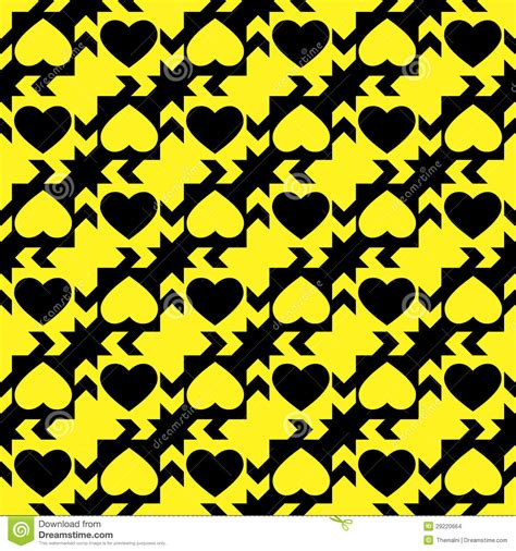 yellow heart pattern black and yellow hearts stock images image 29220664