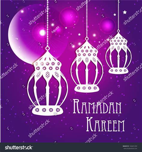 ramadan card templates ramadan kareem greeting card vector template stock vector