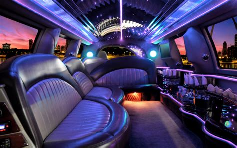 inside a limo renting a limousine for your for their prom 5