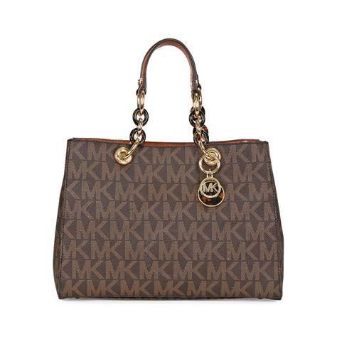 Michael Kors Purse by Michael Kors Cynthia Medium Pvc Logo Satchel Handbag In