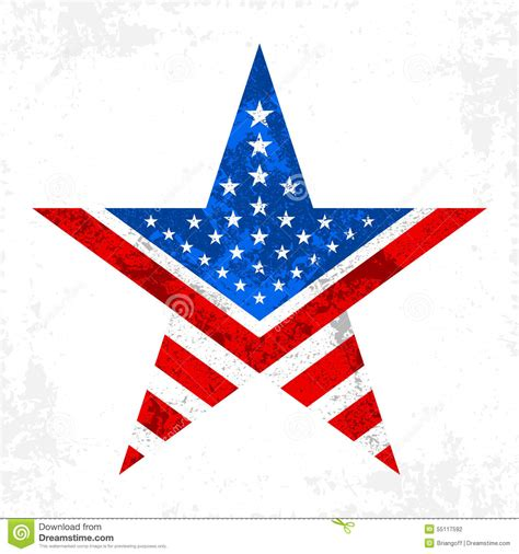 American Ster america icon stock vector image of graphic flag