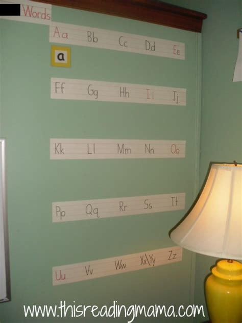 printable alphabet strip for wall day 2 organizing for a print rich environment this