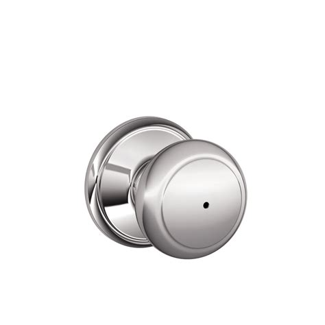 Schlage Chrome Door Knobs by Shop Schlage F Andover Bright Chrome Push Button