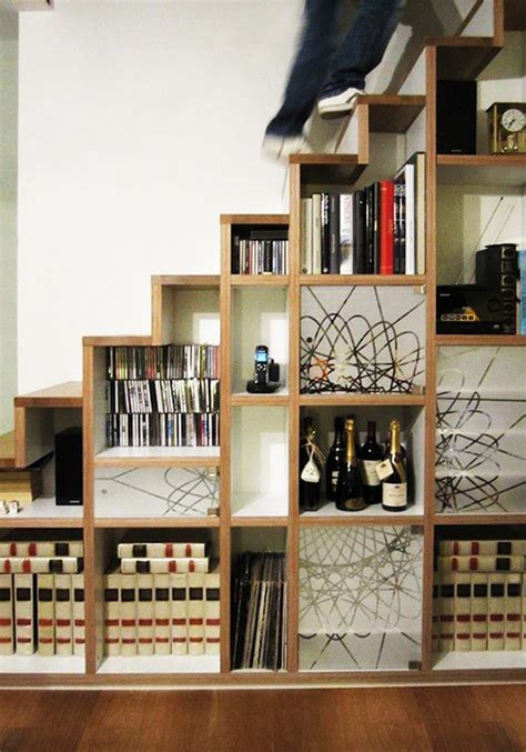 Storage Space Ideas 30 Stair Shelves And Storage Space Ideas Freshome
