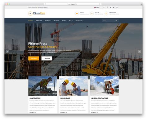 47 Best Construction Company Wordpress Themes 2019 Colorlib Best Construction Website Templates