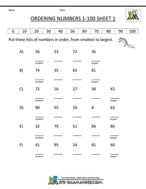 printable math worksheets comparing numbers comparing numbers worksheet 1st grade search results