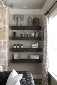 Living Room Floating Shelves Ideas Diy Floating Shelves For My Living Room Shanty 2 Chic