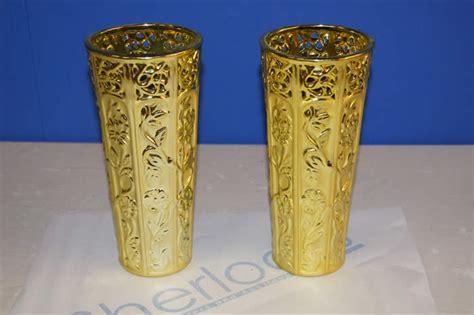 Gold Coloured Vases Ref Jb04 07 10