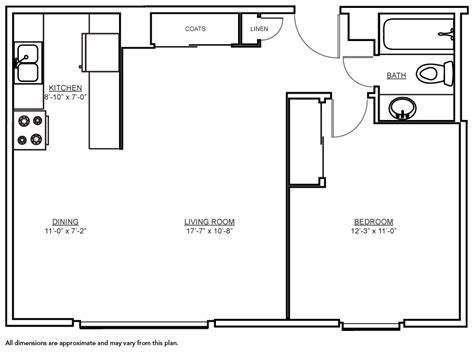 600 Sq Ft Floor Plans by 600 Sq Ft Apartment Floor Plan Thraam Com