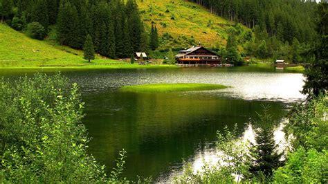casa lago casa en el lago alpes fondos hd