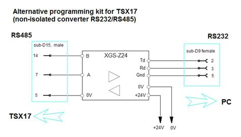 converter z 24 krk automation rs232 to rs485 converter xgs z24 in