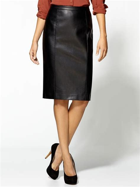 tinley road vegan leather pencil skirt omg buy me this