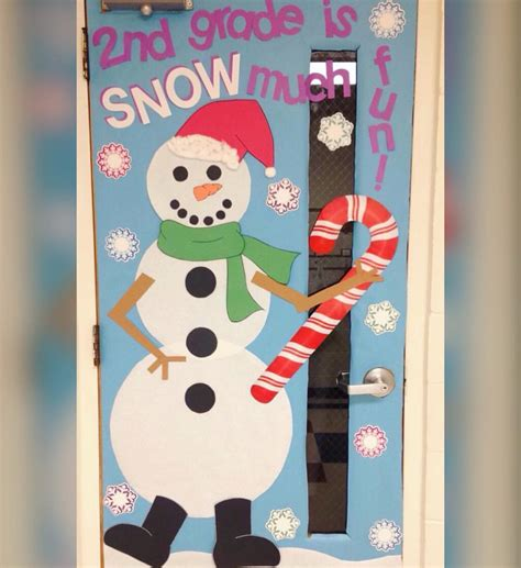 christmas decoration for 2nd grade winter classroom door snowman door second grade door decoration 2nd grade is snow much