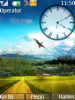 nature clock themes mobile9 download nokia nature clock theme nokia theme mobile toones