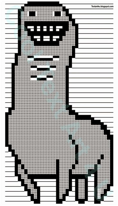 Copy And Paste Meme Faces - bunchie the llama ascii text art codes cool ascii text