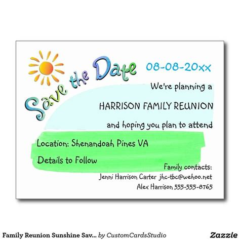 Family Reunion Save The Date Cards Templates by 22 Best Family Reunions Save The Date Images On