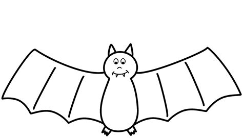 free coloring pages of cute cartoon bat
