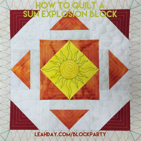 Learn How To Quilt by The Free Motion Quilting Project How To Quilt A Sun Explosion Block