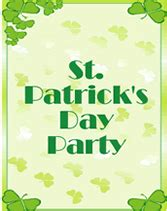 Free St Patricks Day Party Printable Invitations St S Day Invitation Template