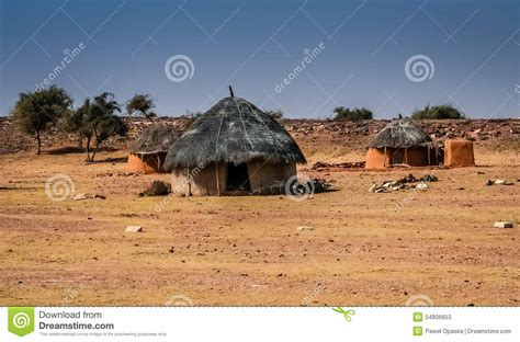 Small Courtyard House Plans Dessert Village In Rajasthan Stock Photo Image 54806653