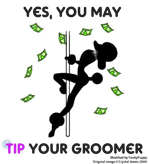 how much to tip a groomer salon gratuity signs images