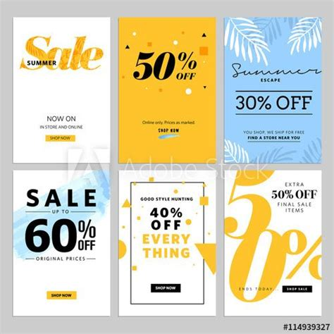 format email banner social media sale banners and ads web template collection