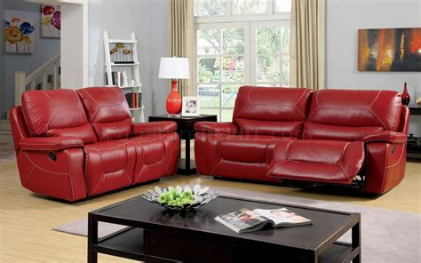 red sectional sofa with recliner newburg reclining sofa cm6814rd in red leather match w options