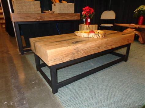 reclaimed beam coffee table reclaimed douglas fir beam coffee table with welded steel