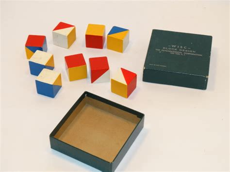 Blocks Intelligence wisc block design intelligence test early version